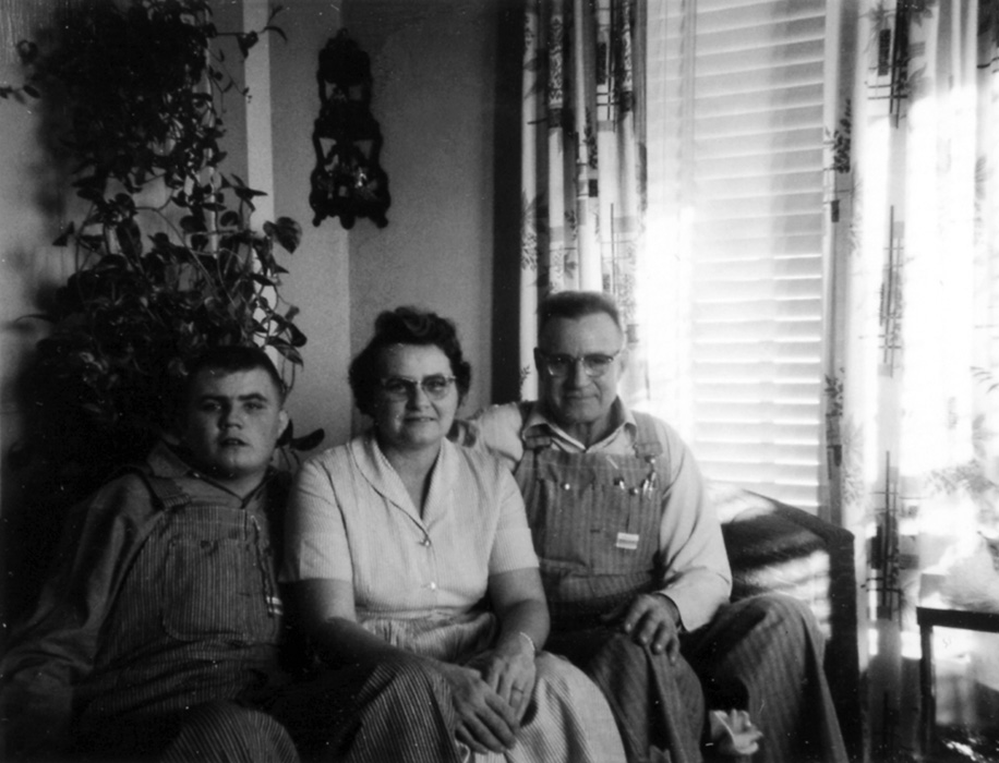 Chuck, Mildred Norman Schad, and Henry Schad