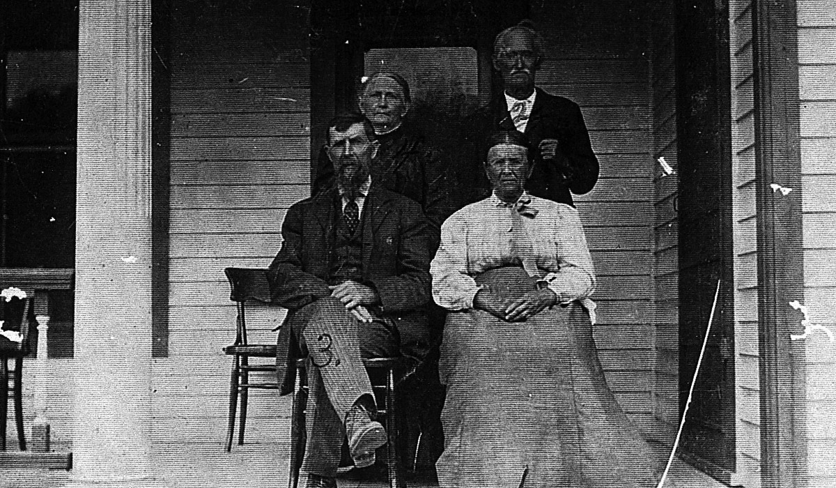Asa Harrison Murphy, Margaret Jane Turner Murphy and unknown Turners